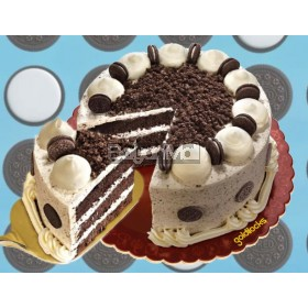 "Choco Velvet Cake with Oreo 8"" Round - Goldilocks"