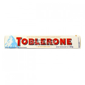 Toblerone Swiss White Chocolate with Honey and Nougat 100g