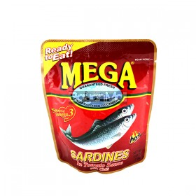 Mega Sardines Tomato Sauce Hot 110g in a Pack