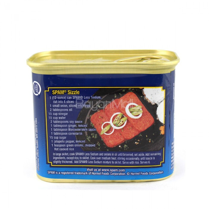 Spam 30 Less Sodium Hormel Foods 340g