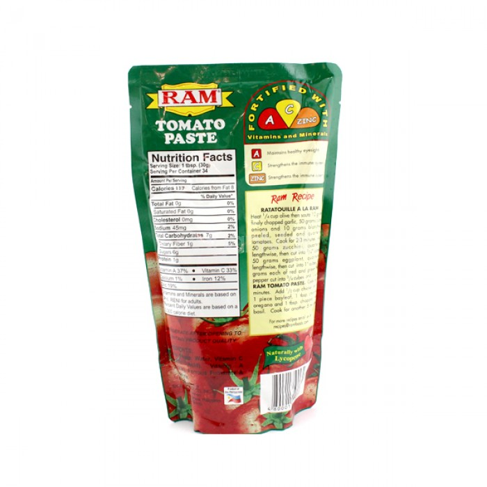 Ram Tomato Paste Net Wt 1kg
