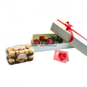 3 Pieces Red Roses Package