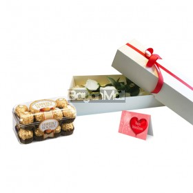 3 Pieces White Roses Package