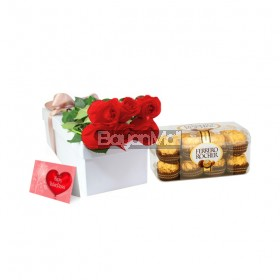 6 Pieces Red Roses Package