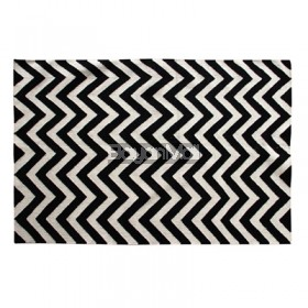 1409B Black and White Reversible Rug