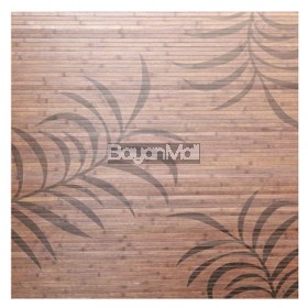 BCP087-CH Bamboo Carpet with Printed Leaf Design 120 x 170 cm