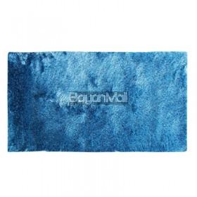 PLAIN ACC85 BLUE SILK 80 x 150 cm