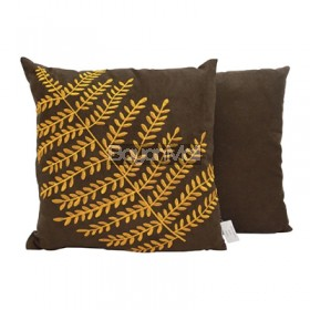 DZ1253 Brown Mimosa Leaves Pillow