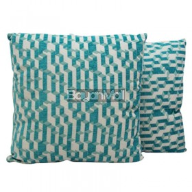JNY14517 BLUE GEOMETRIC PILLOW