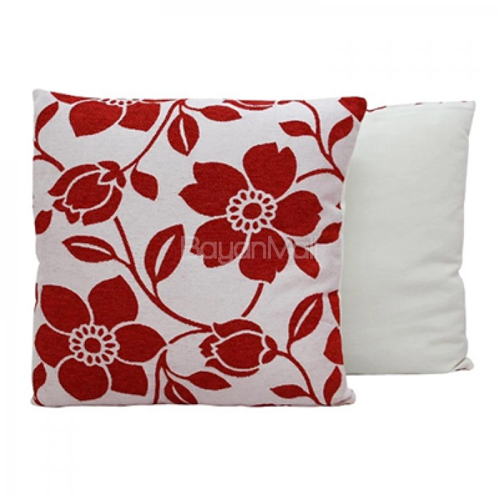JNY RED FLOWERS THROW PILLOWS