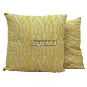 JNY14517 YELLOW GEOMETRIC PILLOW