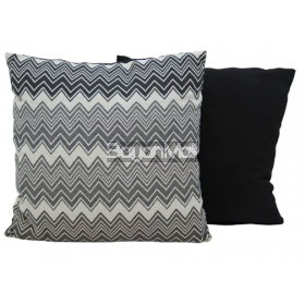 JNY14632 BLACK ZIGZAG PRINT PILLOWS