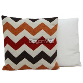 JNY15141 ZIGZAG RED AND ORANGE PILLOWS