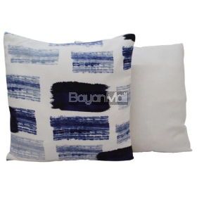 MSK094 SUEDE BLUE SQUARE PILLOW