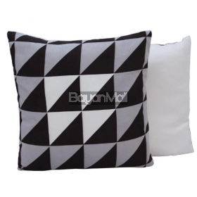 MSK353 SUEDE BLACK TRIANGULAR PILLOW