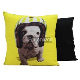 R0037-C672-3 DOG PRINT THROW PILLOW