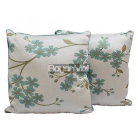 R004-TH466-3 JACQUARD PLANT CUSHION THROW PILLOW