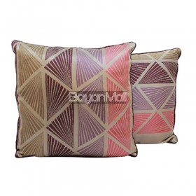 R004-TH528-1 TRIANGLE JACQUARD CUSHION THROW PILLOW
