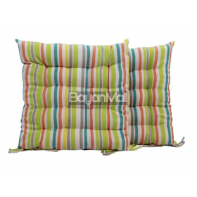 R0065-C1397-2 TUFTED YARN DYED POLYCOTTON STRIPES SEATPAD