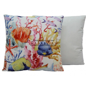 VELVET FISH AND CORALS PILLOWS