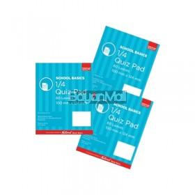 3PCS Pad Quiz Premium 80lvs 2S School Basics
