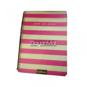 Hotlines Pink and white 80sheets