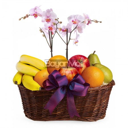 Fruits and Bloom Basket