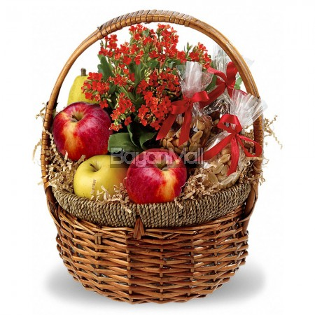 Healthy Fruits and Nuts Basket