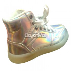 LED Shoes for Kids White Size: 28-35