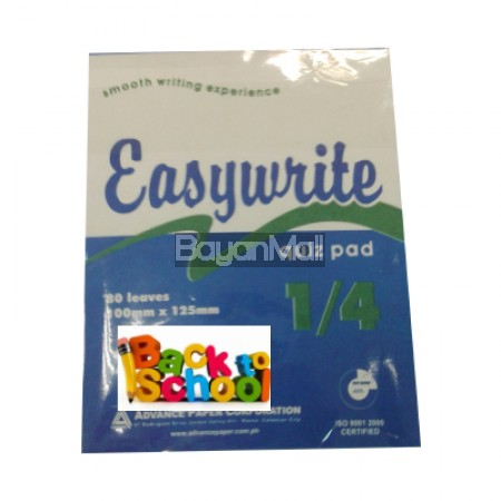 Easywrite Writing Pads 1/4 quiz size