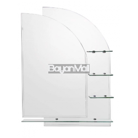 E030 Sailboat Mirror with 4 Shelves