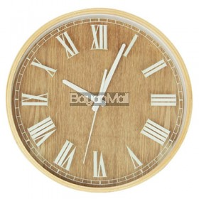 WF2012 WOOD AND NUMERALS W-CLOCK
