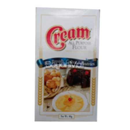 Cream All Purpose Flour 80g	In a box