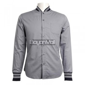 Bench Twill Long Sleeve Shirt with Ribbed Ciff