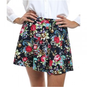 Bench Floral Print Mini Skirt Size: M,L