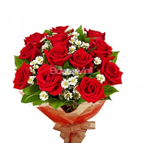 1 dozen bouquet of red roses