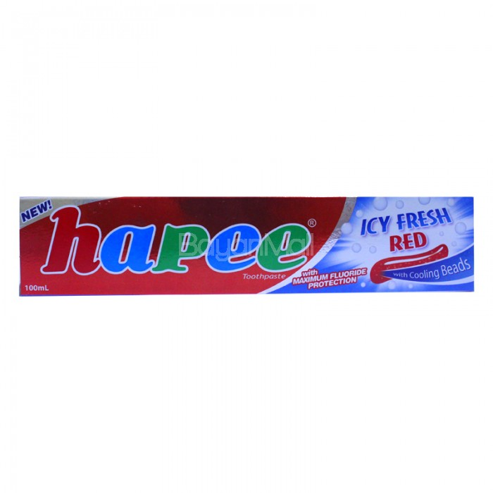 Hapee Toothpaste Icy Fresh Red With Cooling Beads 100ml