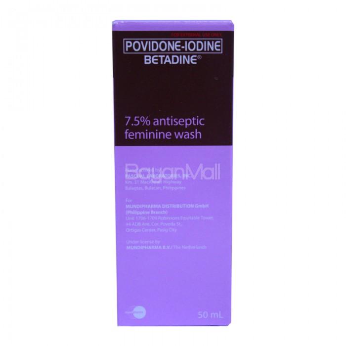 Povidone-Iodine Betadine 7.5% antiseptic Feminine Wash 50ml