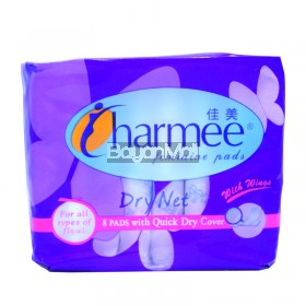 Charmee Feminine Pads Dry Net with Wings 8 pads