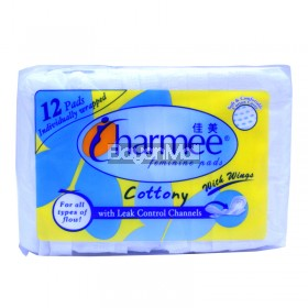 Charmee Feminine Pads Cottony with Wings 12 pads