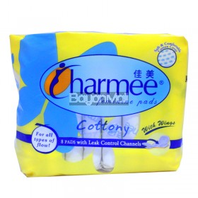 Charmee Feminine Pads Light 8 pads With Wings