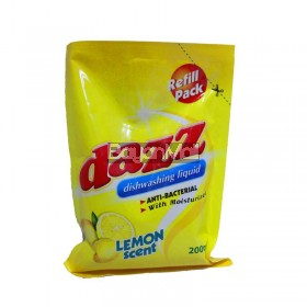 Dazz Dishwashing Liquid Lemon 200mL