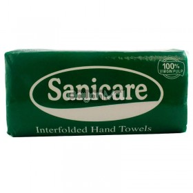 Sanicare Interfolded Hand Towels (175 Single Ply Pulls) 270g