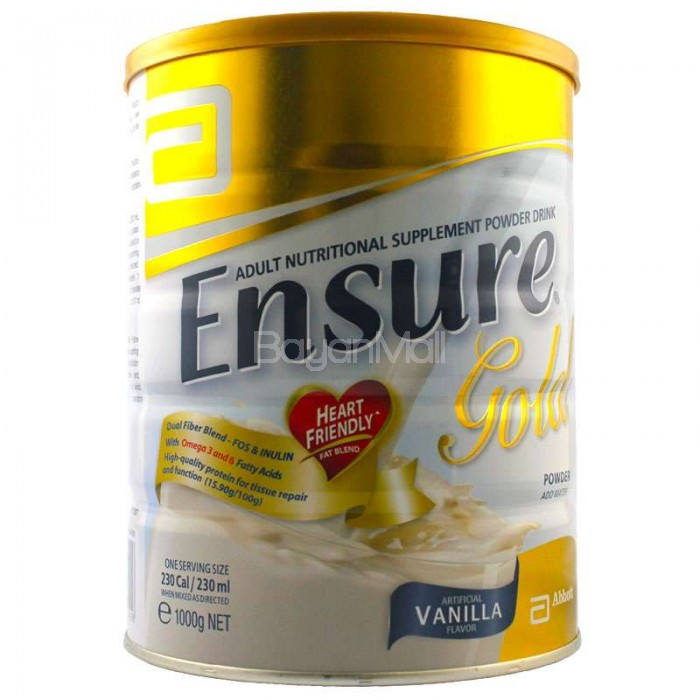 Ensure nutritional supplement assistance