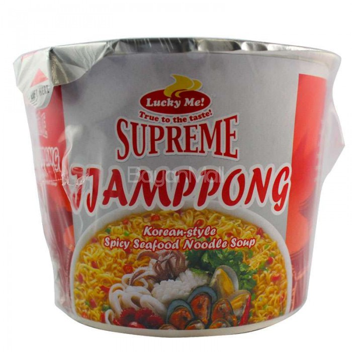 Lucky Me Supreme Jjampong Spicy Seafood Noodle Soup 35g ...