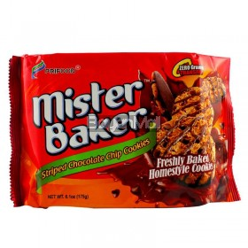 Prifood Mister Baker Striped Chocolate Chip Cookies 175g