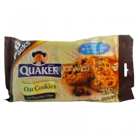 Quaker Oat Cookies with chocolate Chips 6 packs x 27g (162g)