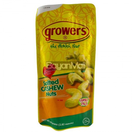 Growers Salted Cashew Nuts Net Wt. 80 grams