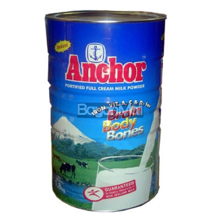 Anchor Fortified Full Cream Milk 1.8kg - In a can