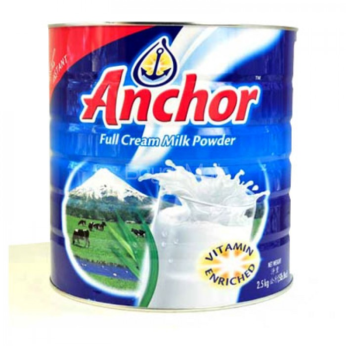 Anchor Fortified Full Cream Milk 2 5kg - In a can